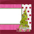Merry Christmas Memories Scrapbooking Quick Page
