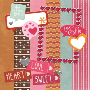 Valentine's Digital Scrapbook Kit