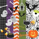 Halloween Spooks Digital Scrapbooking Kit