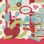 Tweet Hearts Digital Scrapbooking Kit