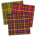 Halloween Plaid Papers